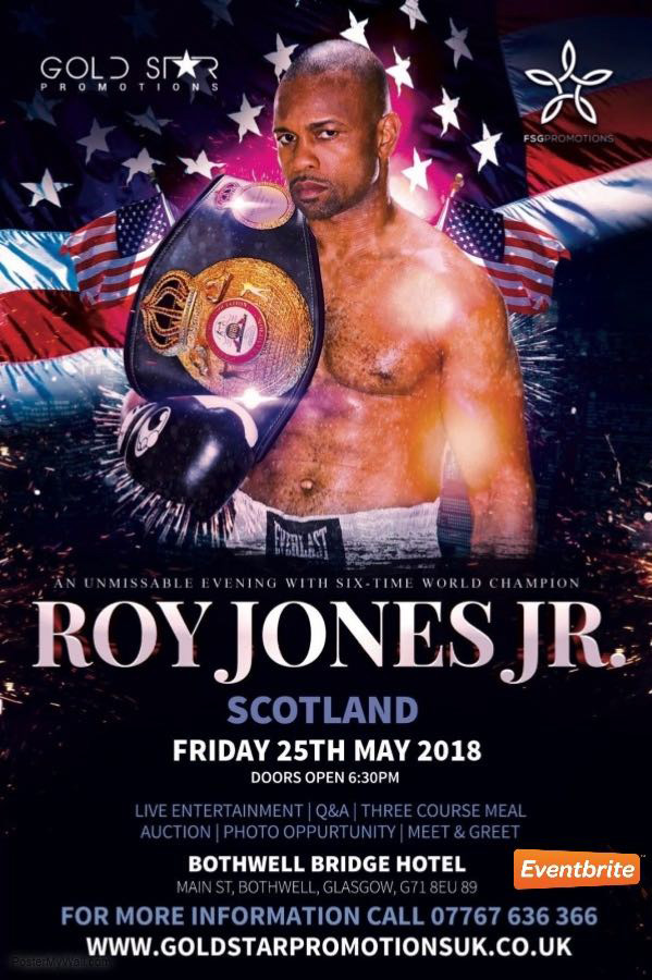 An Evening With Roy Jones Jr. at Bothwell Bridge Hotel