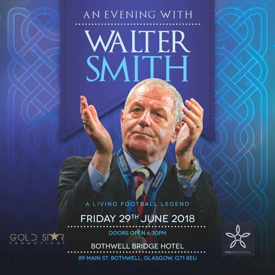 An Evening With Walter Smith at Bothwell Bridge Hotel